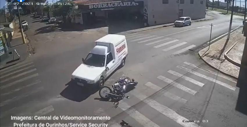 Monitoramento flagra mais um acidente de trânsito em Ourinhos